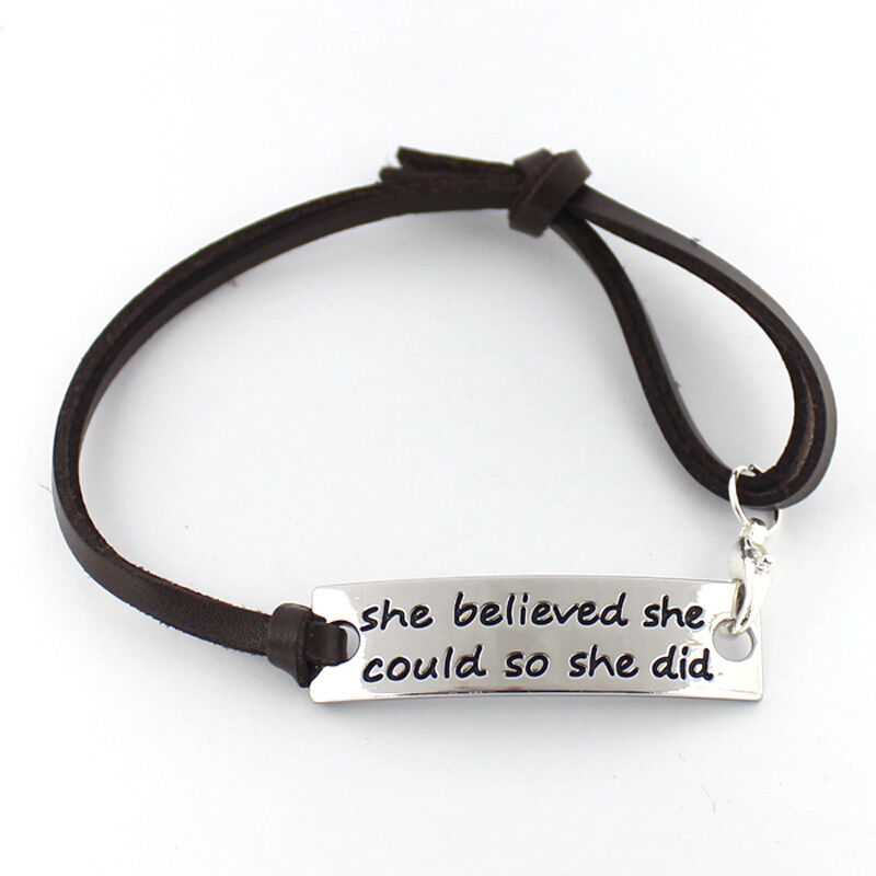 """""""She Believed She Could So She Did"""" Inspirational Leather ..."""