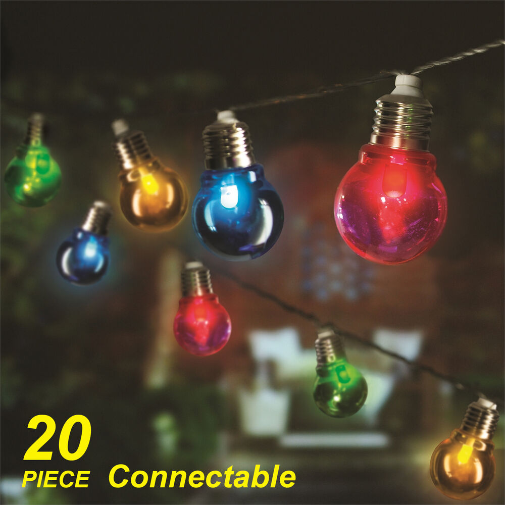 led festoon party string light kit connectable low voltage ebay. Black Bedroom Furniture Sets. Home Design Ideas
