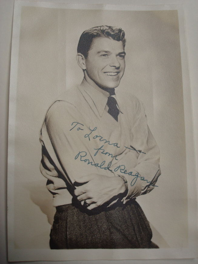 Vintage Ronald Reagan Autographed Photo Original Ebay