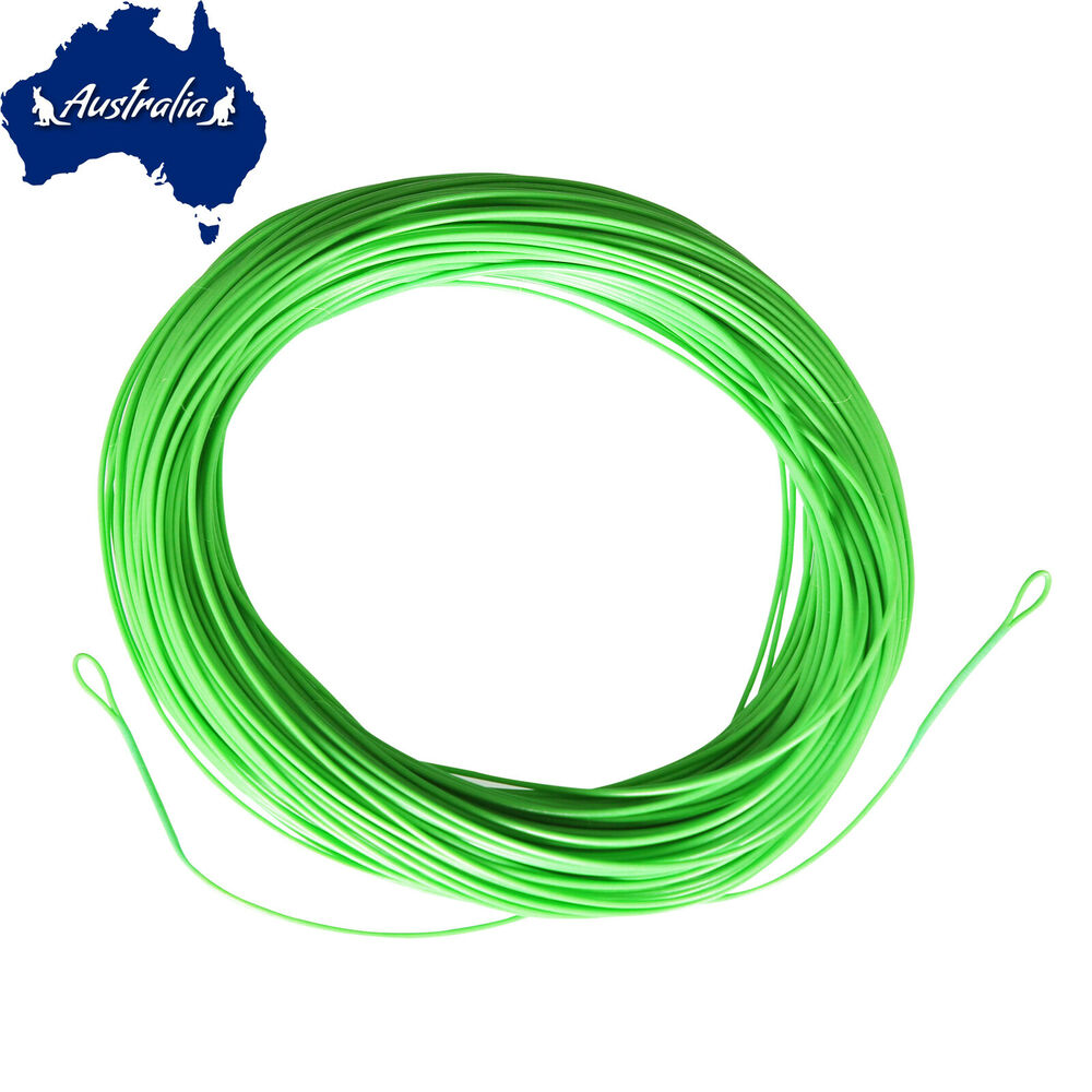 Sf green fly fishing line trout floating wf 2 3 4 5 6 7 8 for Fly fishing line