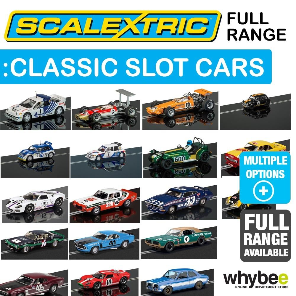 New! Scalextric 1/32 Classic Race & Rally Car Slot Cars