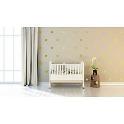 4'' Four Inches Peel and Stick Metallic Gold Polka Dot  Decals-Confetti Decals
