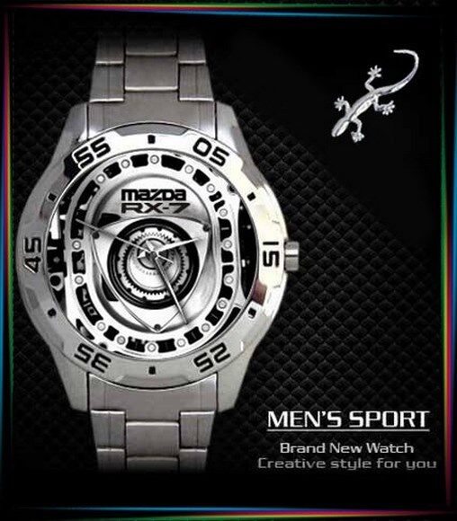 Rx7 Engine Is: New Mazda RX7 Rotary Engine Mens Watch Sport Metal Watch