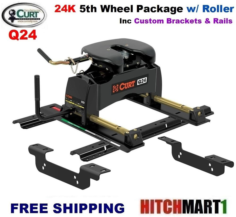 24k Curt 5th Wheel Trailer Hitch Package W Roller 11 16