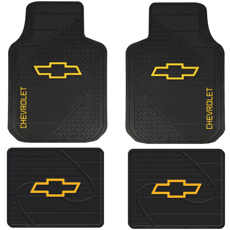 New 4pc Chevy Factory Bowtie Logo Front & Back Heavy Duty