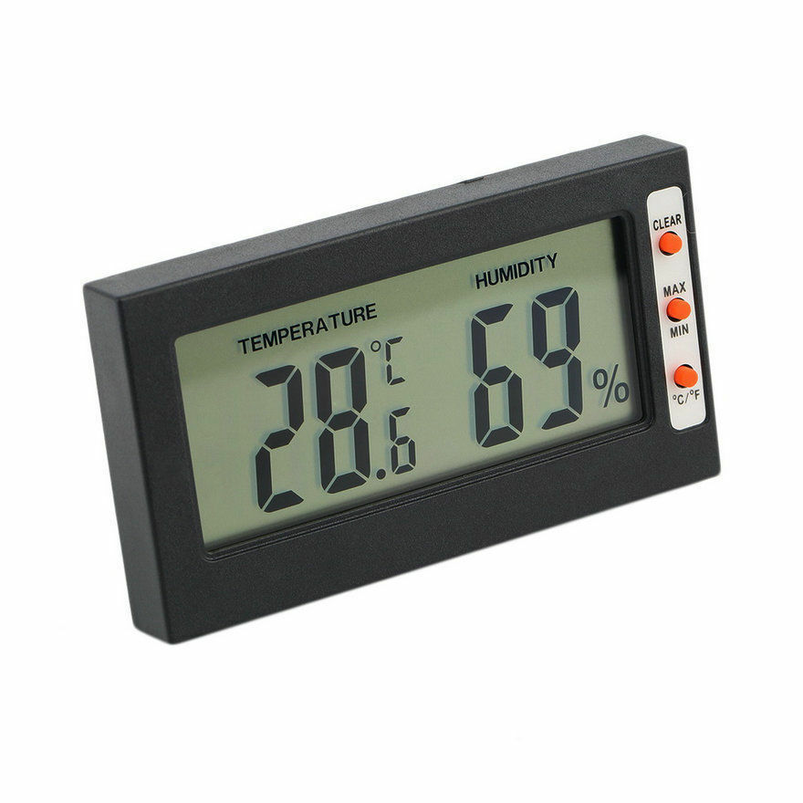 new digital lcd thermometer hygrometer temperature humidity meter gauge ka ebay. Black Bedroom Furniture Sets. Home Design Ideas