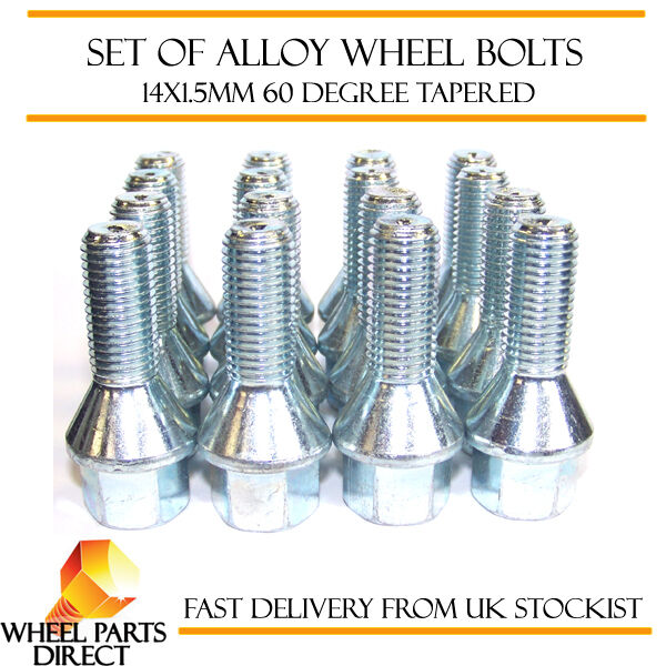 Alloy Wheel Bolts 14x1.5 Nuts Tapered for Porsche Macan Turbo 14-16 16