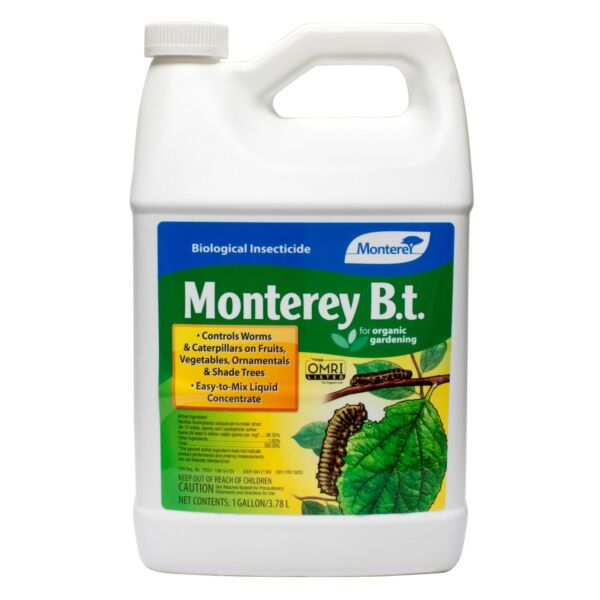 Monterey B.t. Insecticide 1 Gal For Worms & Catepillars on Fruits and Vegetables