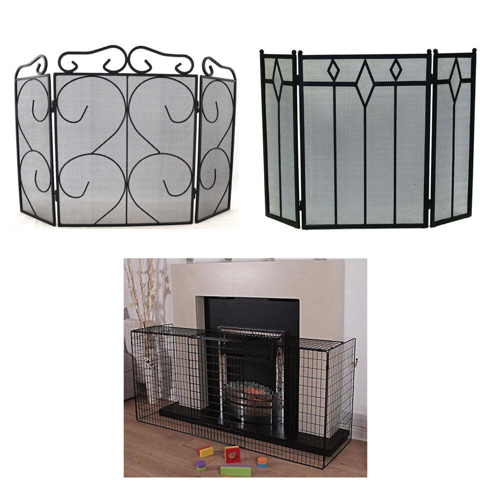 Vintage Fireplace Firescreen Guard Victorian Hearth Spark Nursery Safety Cover Ebay