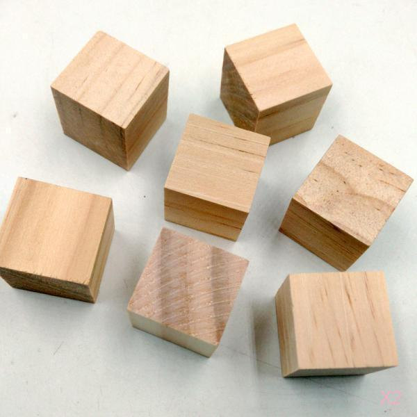 40x wooden blocks cubes embellishments for kids creative for Where to buy wood blocks for crafts