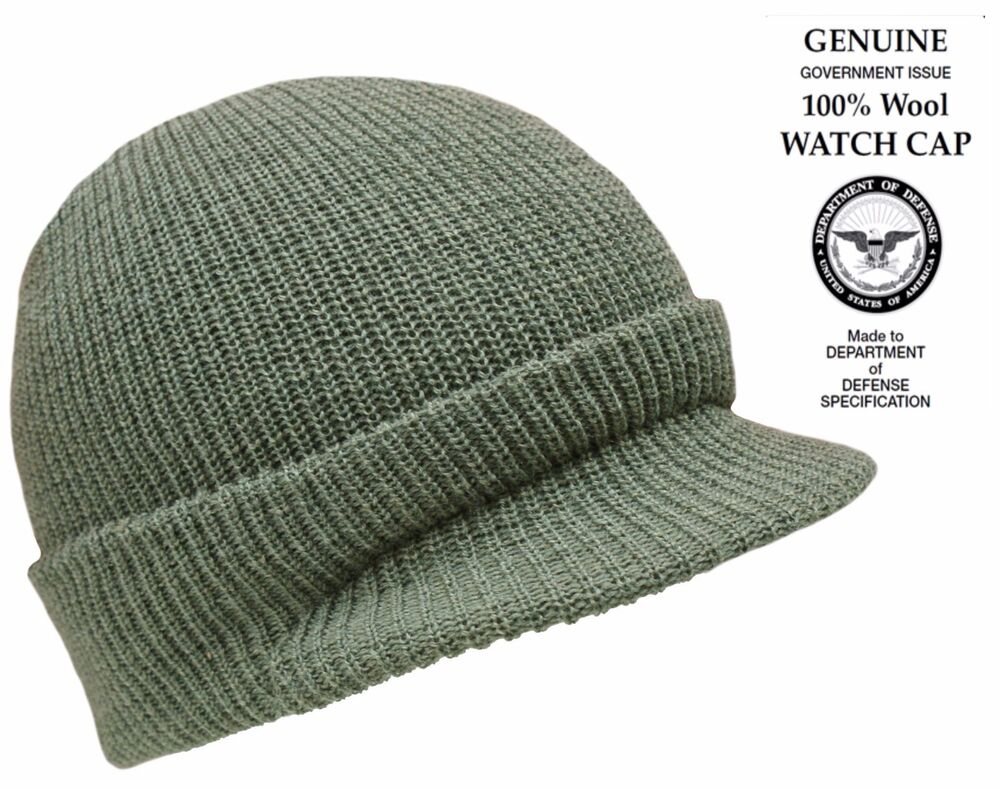 Genuine New 100 Wool Hat Us Army Watch Jeep Cap Peaked