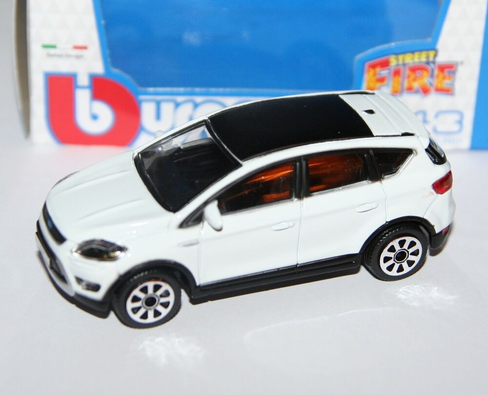 burago ford kuga white 39 street fire 39 model scale 1 43 ebay. Black Bedroom Furniture Sets. Home Design Ideas