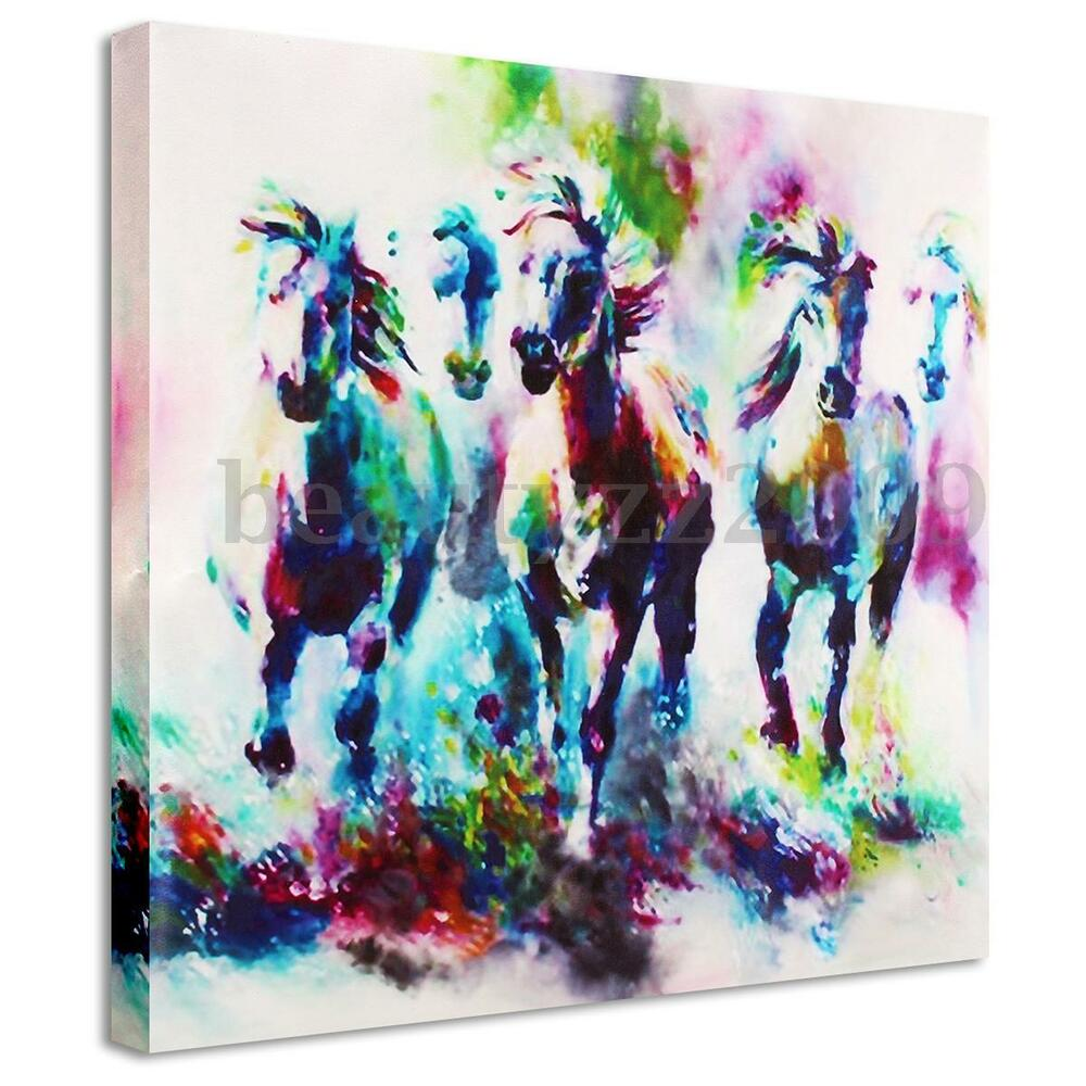 Modern canvas prints paintings horse picture wall art Interiors by design canvas art