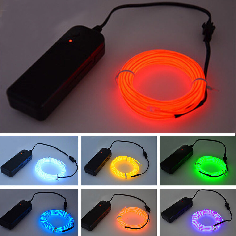 Useful Glow LED Light El Wire String Strip Rope With ...