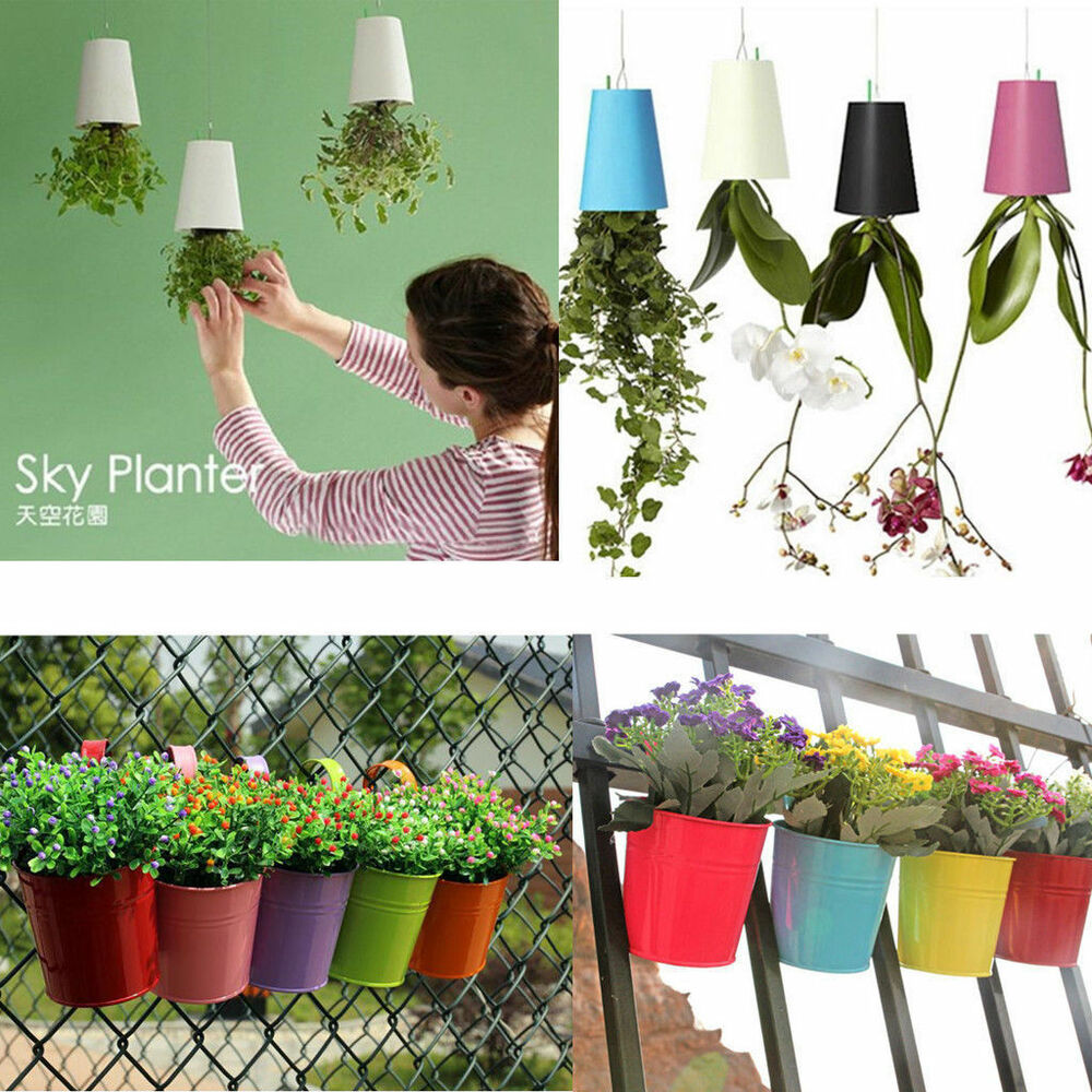 sky planter hanging indoor suspension flower pot upside. Black Bedroom Furniture Sets. Home Design Ideas