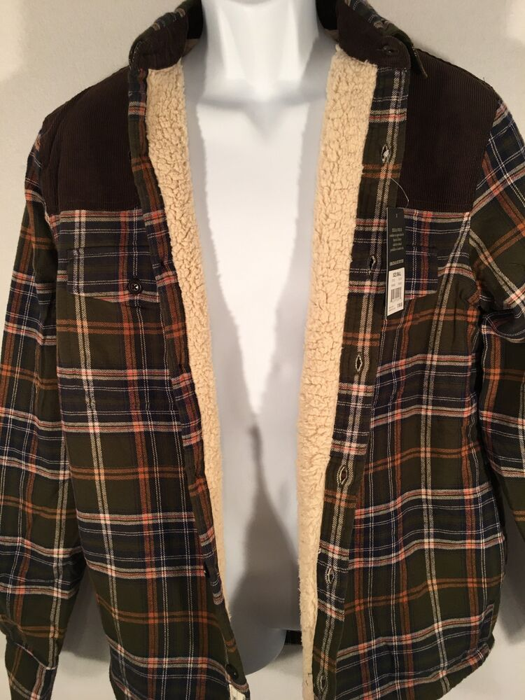 Nwt Field Stream Sherpa Lined Flannel Shirt Jacket Small