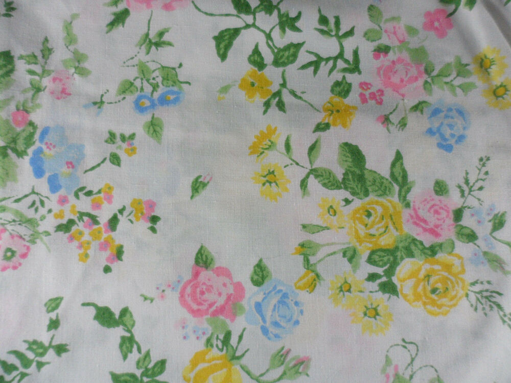Vintage Lady Pepperell No Iron Percale Queen Flat Sheet