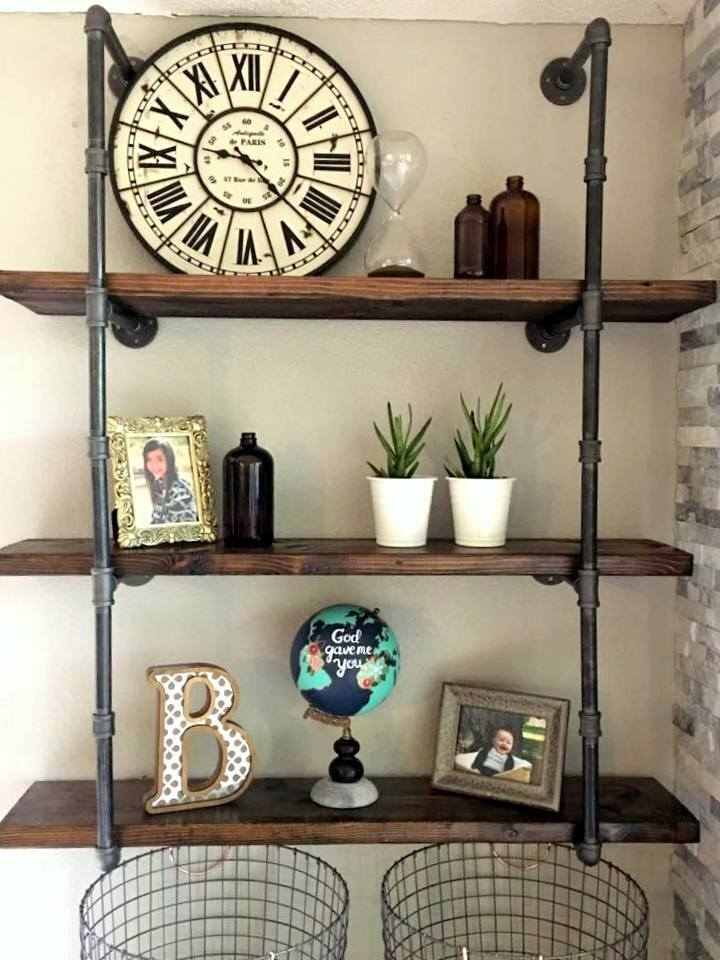34 Industrial Black Iron Pipe Shelf Shelving Lumber Not Included EBay