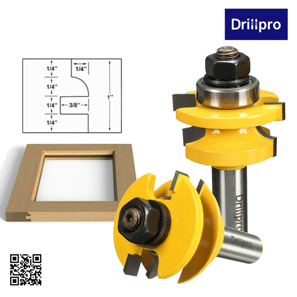 ... & Stile Router Bit Set 1/2'' Shank Woodworking Chisel Cutter | eBay