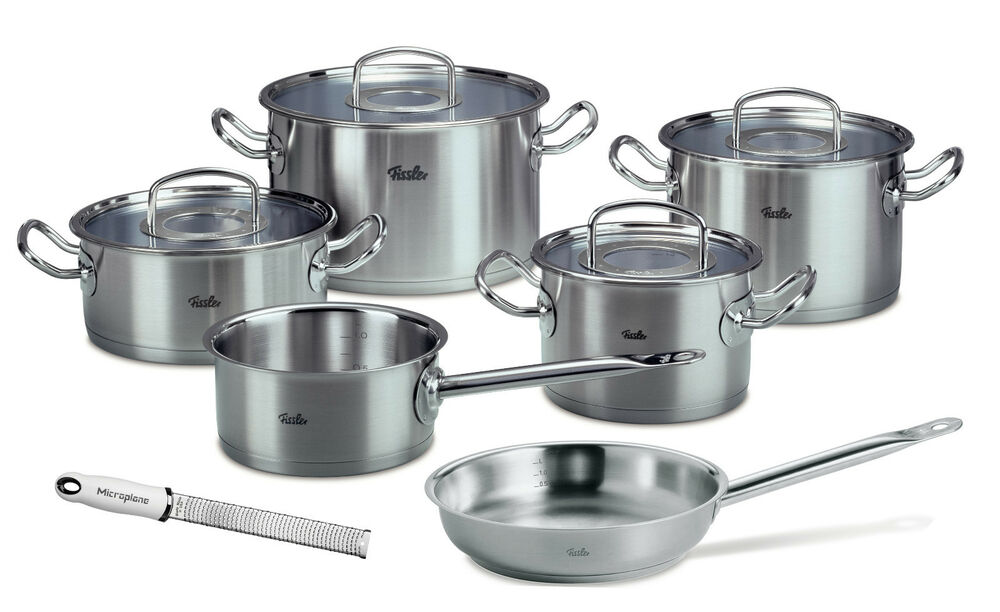 fissler topfset profi collection 7 tlg glasdeckel pfanne 28 cm microplane reibe ebay. Black Bedroom Furniture Sets. Home Design Ideas