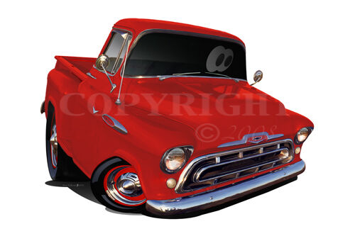 Barrett 1957 Chevrolet 4x4 Truck Wall Graphic Removable