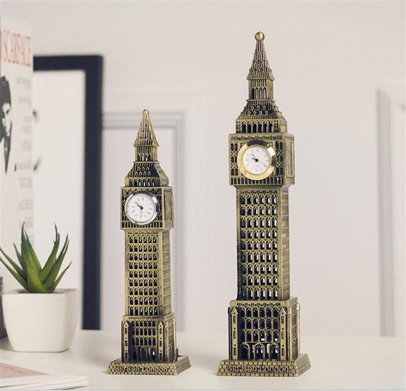 24cm london big ben figurine statue vintage alloy model for Home decorations london
