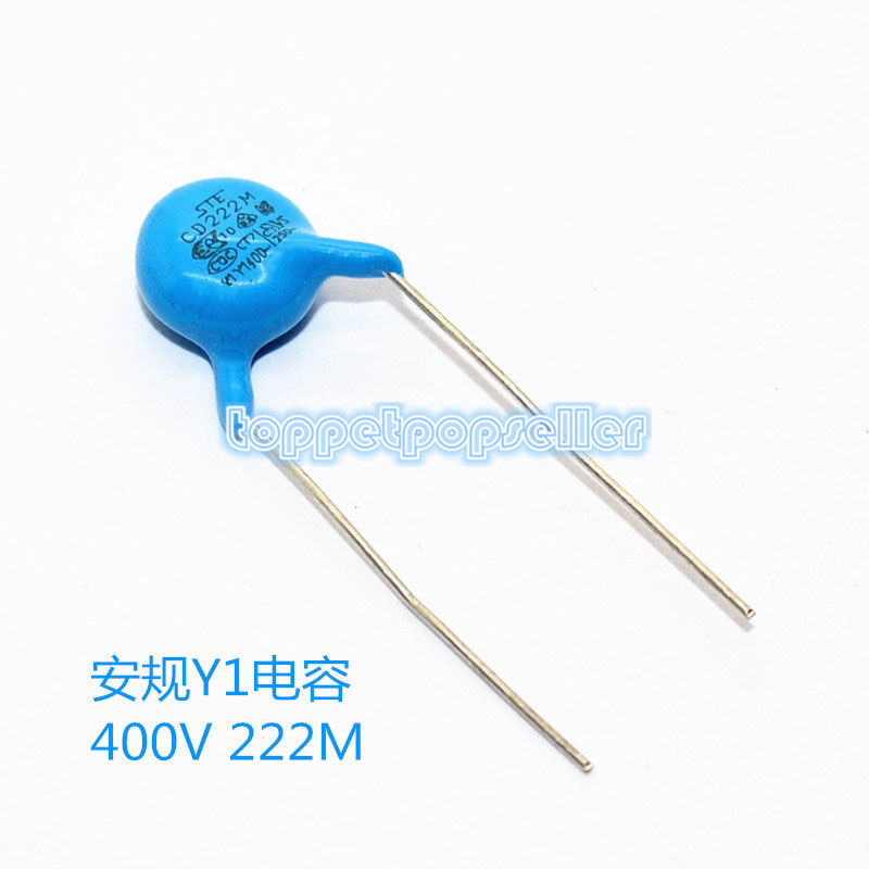 100pcs Ceramic Safety Capacitor 222m 2200pf 2 2nf 400v Ebay