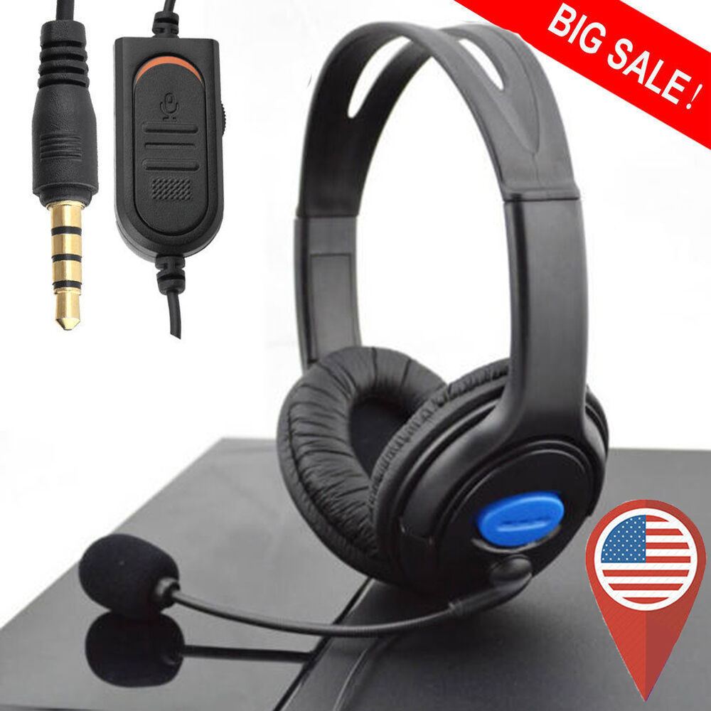 wired gaming headset headphones with microphone for sony. Black Bedroom Furniture Sets. Home Design Ideas
