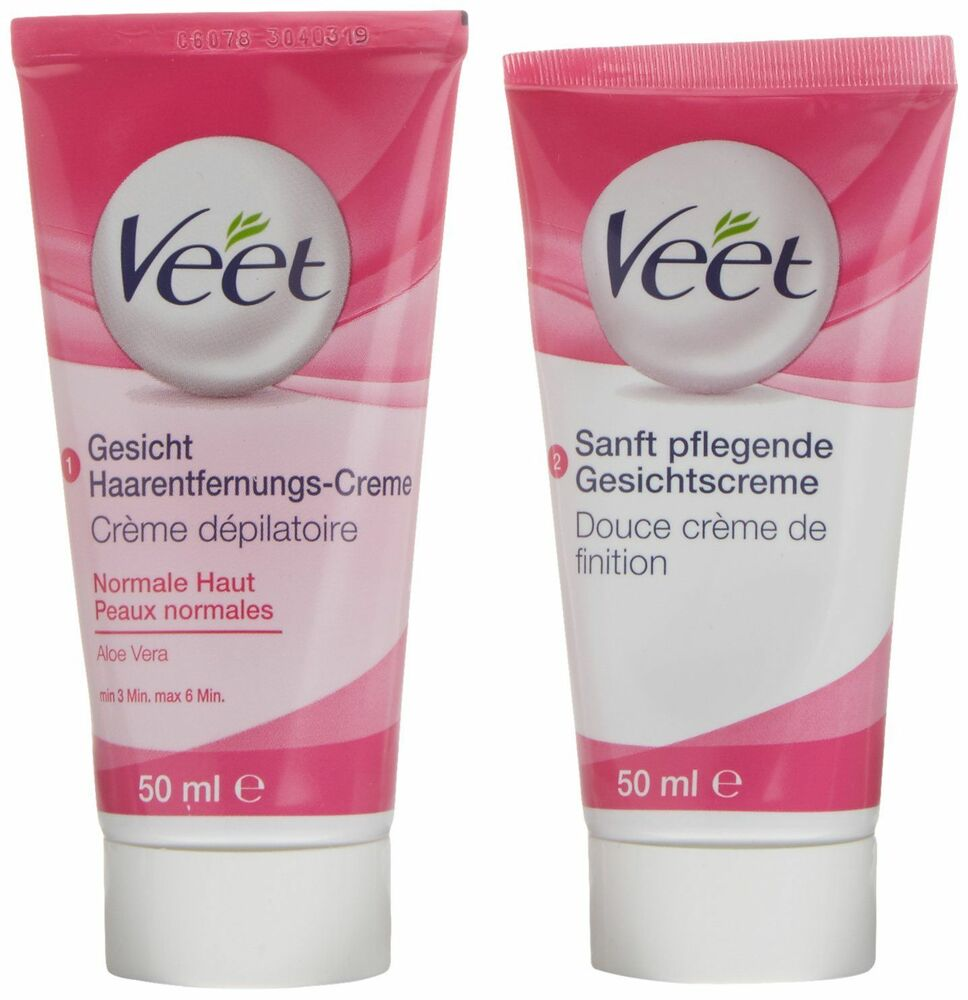 veet gesicht haarentfernungs creme set f r sensible haut mit aloe vera ebay. Black Bedroom Furniture Sets. Home Design Ideas