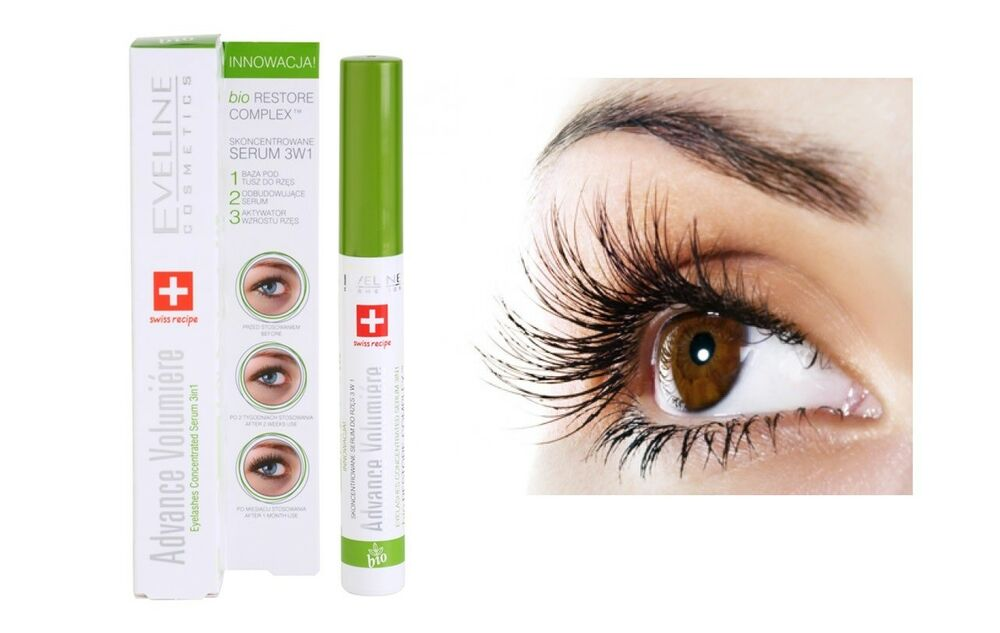 Eveline Advance Volumiere Eyelashes Concentrated Growth Serum 3-in-1 Mascara10ml | eBay