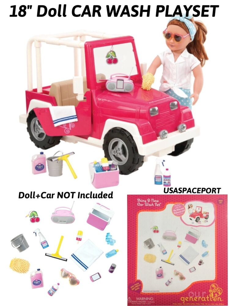18 doll car wash accessories play set for american girl jeep truck coupe camper ebay. Black Bedroom Furniture Sets. Home Design Ideas