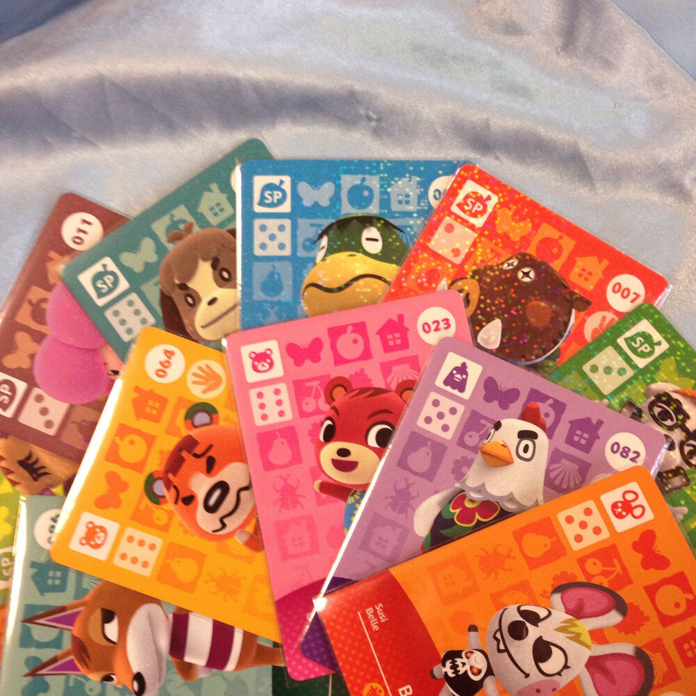 Animal crossing amiibo card singles series 1 1 100 - Happy home designer amiibo figures ...
