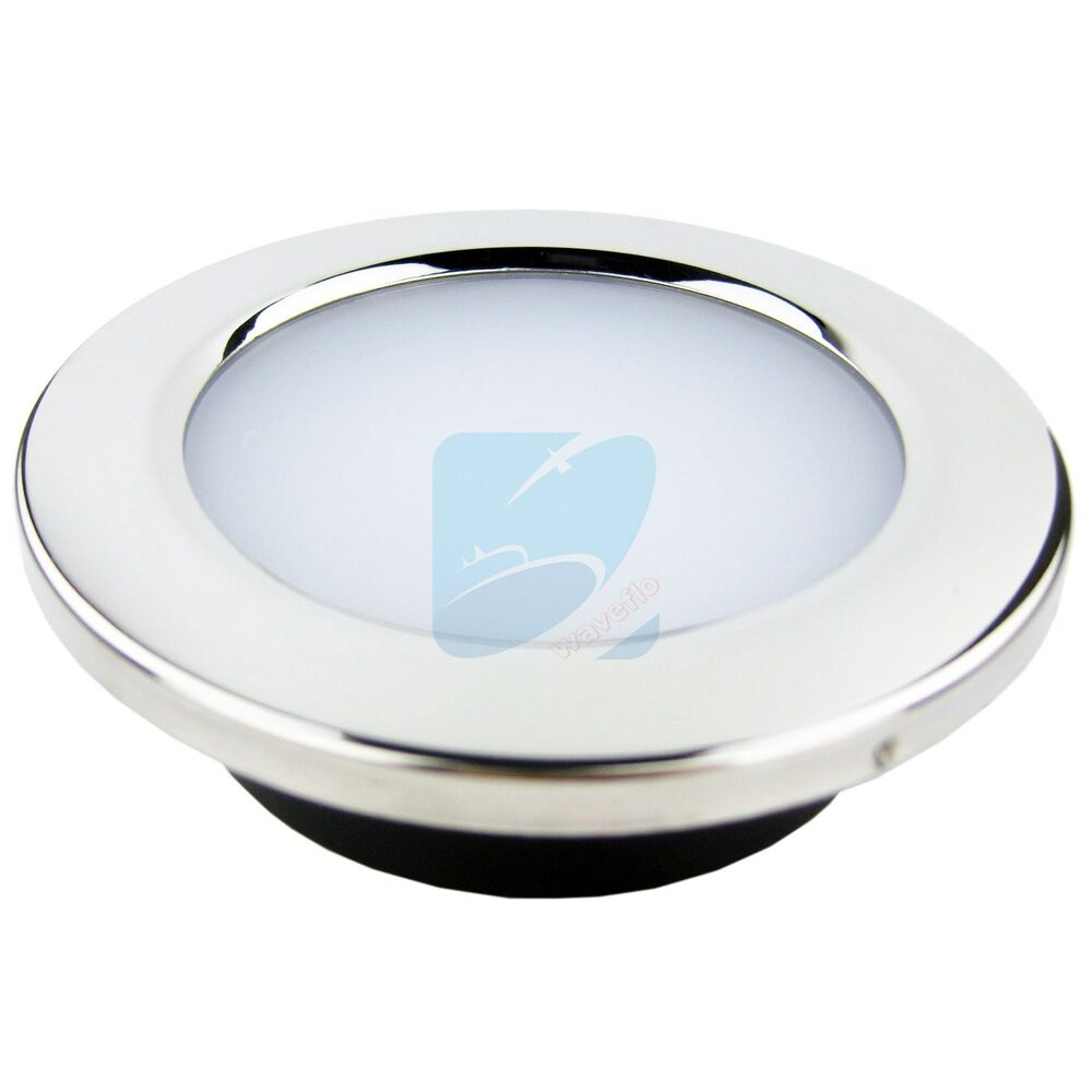 stainless marine ceiling dome light boat caravan led. Black Bedroom Furniture Sets. Home Design Ideas