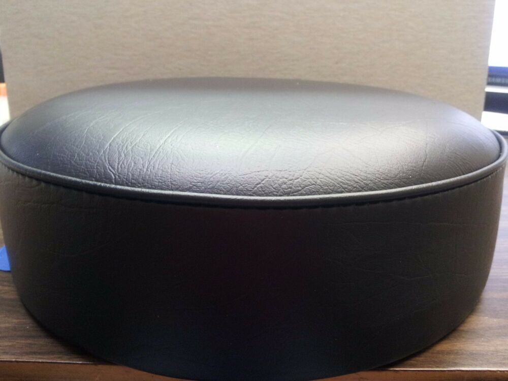 universal bar stool replacement seat top 14 dia 5 thick heavy duty blk or red ebay. Black Bedroom Furniture Sets. Home Design Ideas