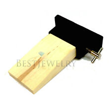 Wood Bench Pin With Metal Holder Plate Jewelers Jewelry Hobby Craft Tool Watch