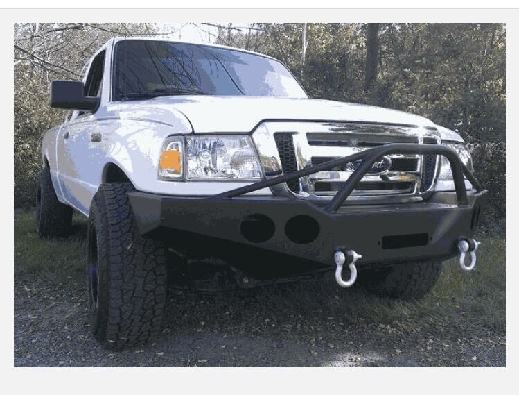 ford ranger 1998 2011 winch bumper pre runner brush guard bumper unpainted ebay. Black Bedroom Furniture Sets. Home Design Ideas