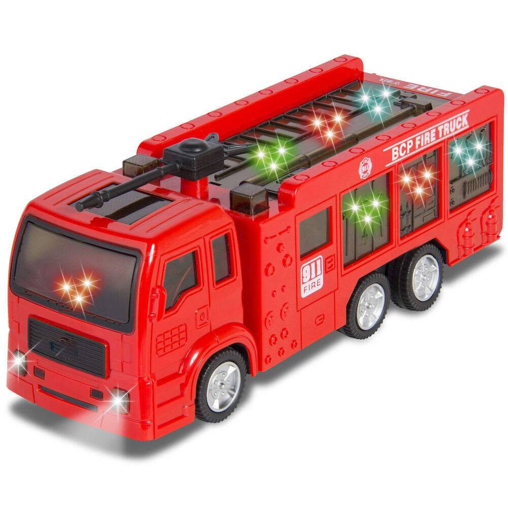 Kids Toy Fire Truck Electric Flashing Lights And Siren