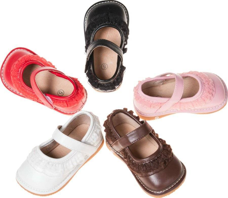Ruffle Style Leather Squeaky Shoes Baby Toddler Size 1 2 3 ...