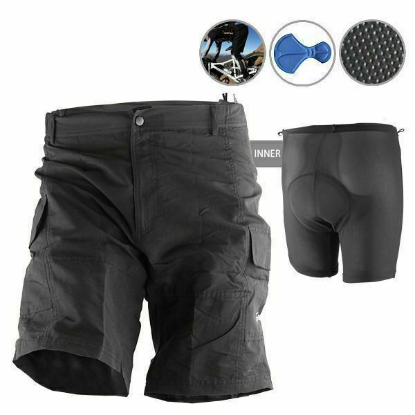 Baggy Bike Bicycle Cycling Knicks Padded Shorts Inner