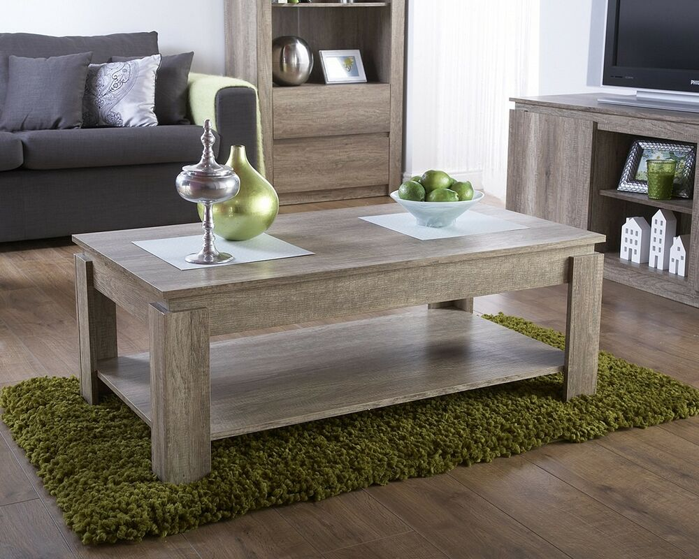 living room tables uk modern wood oak coffee table living room furniture 17645