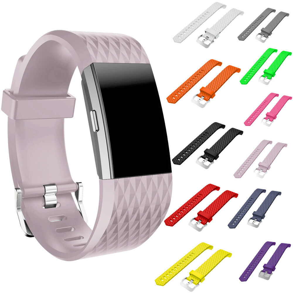 sport silicone wrist watch bands bracelet replacement for fitbit charge 2 strap ebay