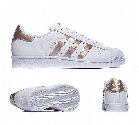 adidas superstar white rose gold bronze foundation size. Black Bedroom Furniture Sets. Home Design Ideas