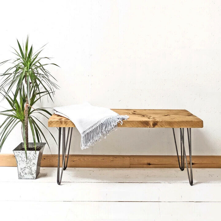 Console table rustic chunky side table 12 x 3 dressing for 12 x 12 end table