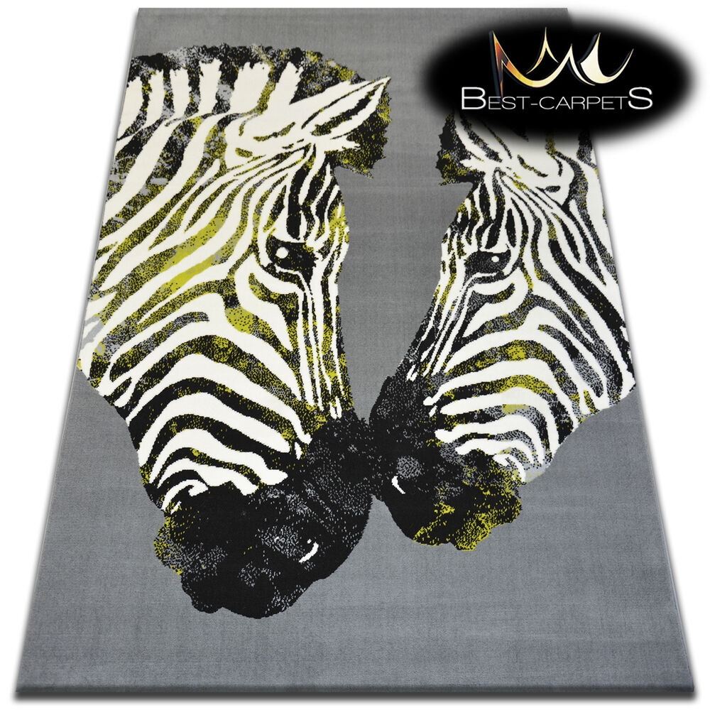 ORIGINAL ANIMAL THEME CARPETS 'FLASH' Zebra Print Area