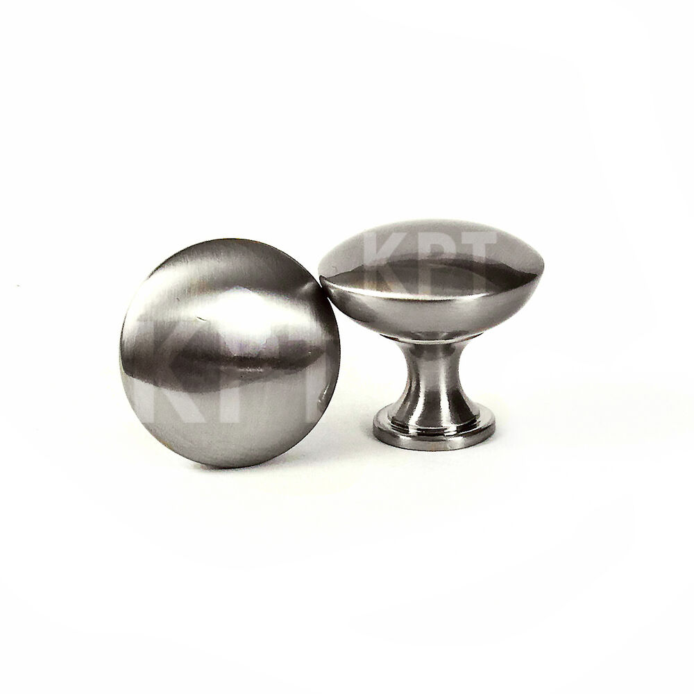 Brushed Nickel Stainless Steel Mushroom Style Kitchen Cabinet Hardware Knob Pull Ebay