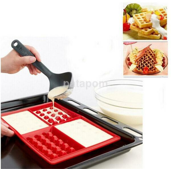 Silicone Waffle Shaped Baking Mould Pan Cake Chocolate Cookie Bake Mold US