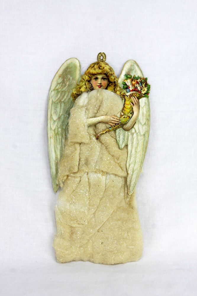 Antique german cotton batting christmas angel ornament List of christmas ornaments