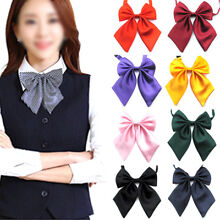 New Pop Women BIG Bow Tie Pure color collar flowers Japan/South Korea wind Gift