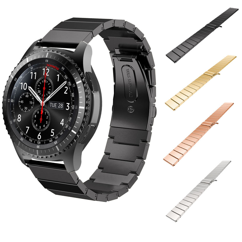 Black Stainless Steel Metal Watch Band Strap For Samsung ...