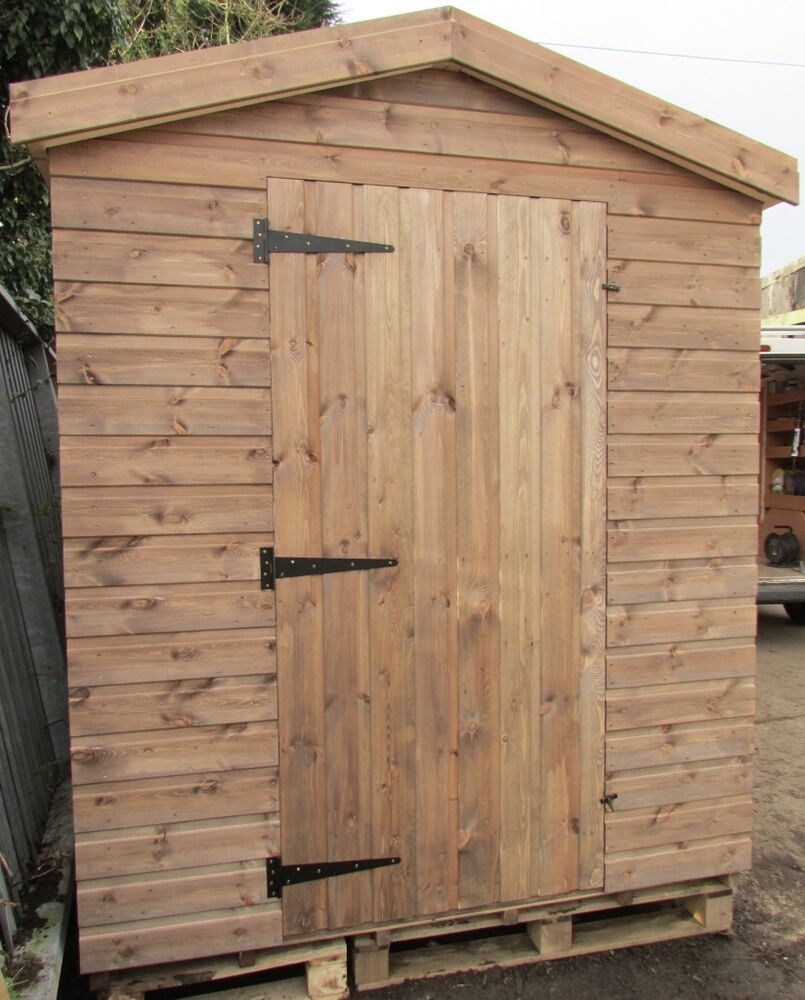 Apex shed 8x6 shiplap wooden garden shed ebay for Garden shed 8x6